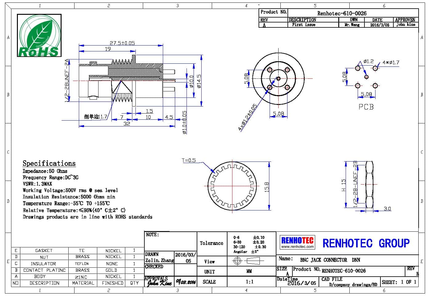 bnc头接线直式180度接线公头连接器压接式