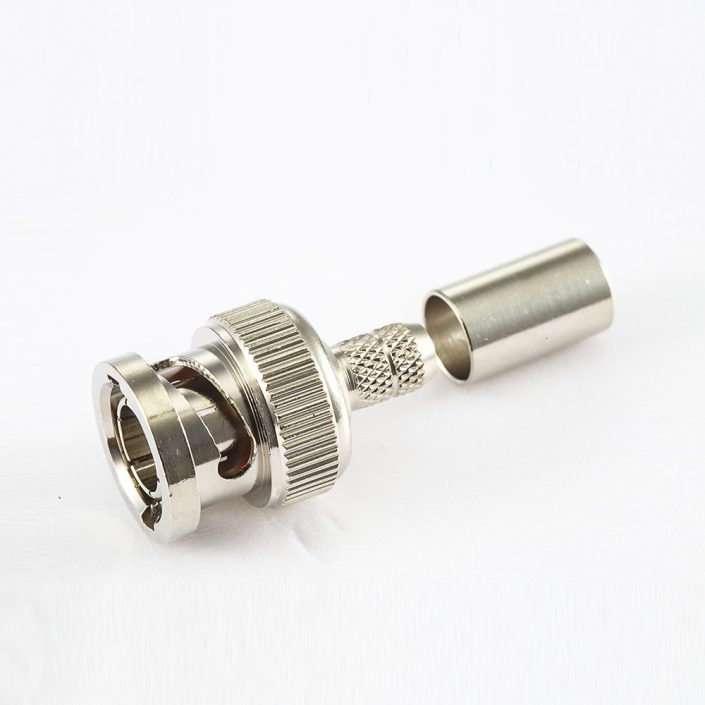 BNC 75欧姆公头直式压接RG6/SYV75-5电缆