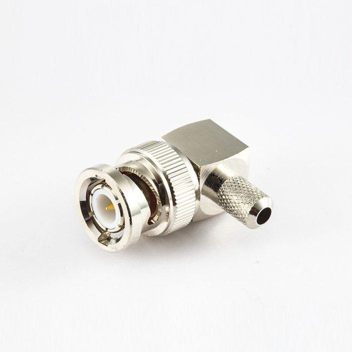 BNC连接器公头直式压接RG174/RG316电缆