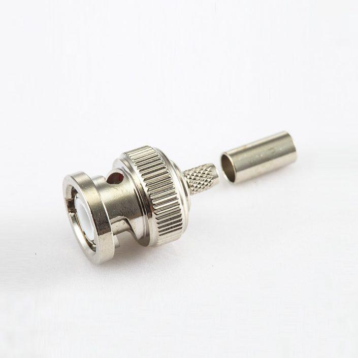 BNC 公头直式压接SYV50-2电缆