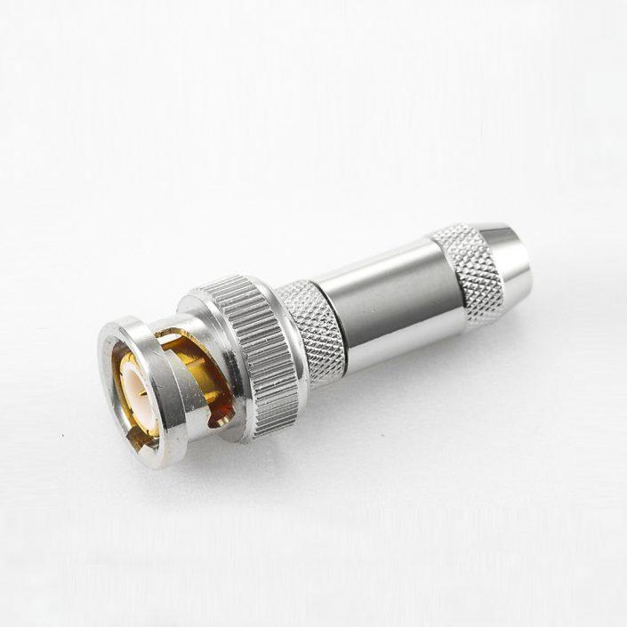 BNC  75欧姆公头直式压接SYV75-3电缆