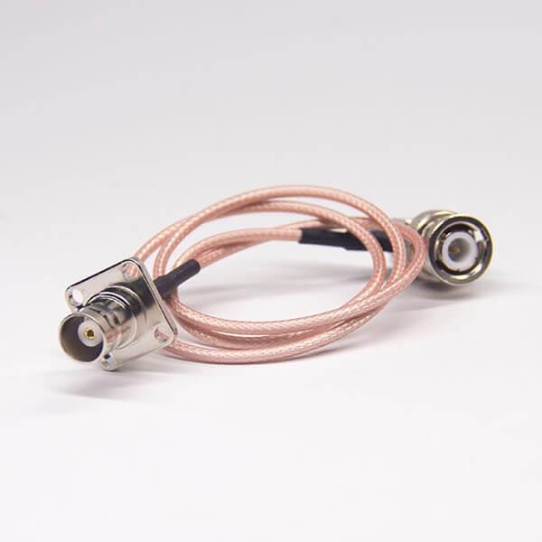 法兰bnc接头公转母同轴电缆连接器接RG316线材