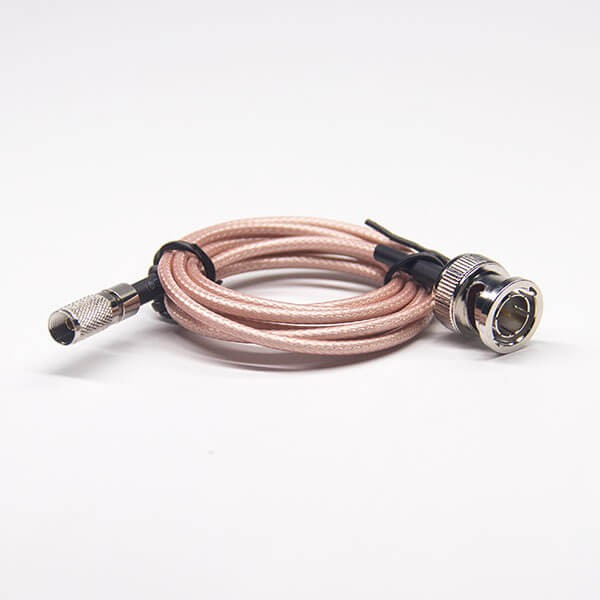 焊接bnc连接头公头直式转din系列1.0/2.3公头直式组装电缆